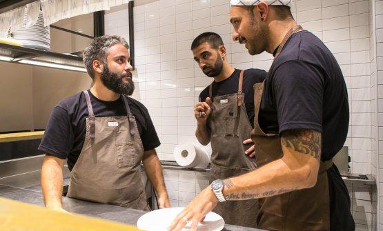 Gli chefGiuseppe Lo Iudice,AlessandroMiocchie Diego Rossi(le foto sono di Alberto Blasetti)