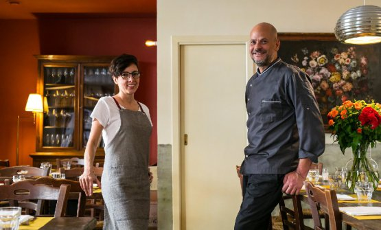 Valeria Payero, sommelier e responsabile di sala, e Tommaso Pennestra, chef