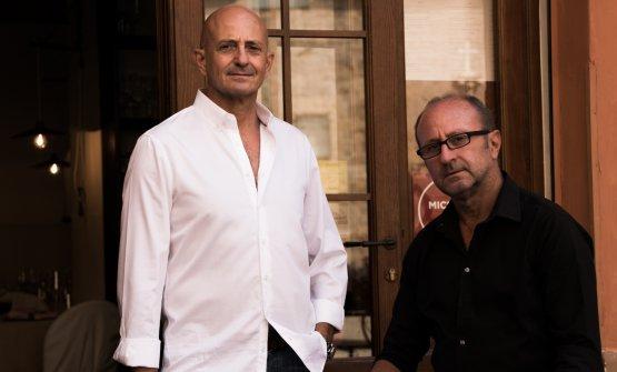 Da sinistra,Andrea Rizzo, restaurant manager dell'Osteria dei Vespri, e suo fratello Alberto, chef