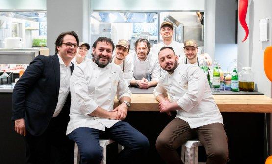 Con la squadra di Identità Golose Milano