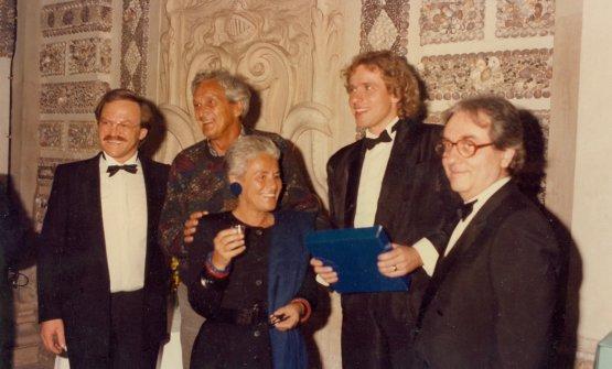 Europa a Tavola nel 1985 con Gualtiero Marchesi, Ottavio eRosita Missoni, Heinz Winkler(quello coi baffi) e Thomas Godshalk