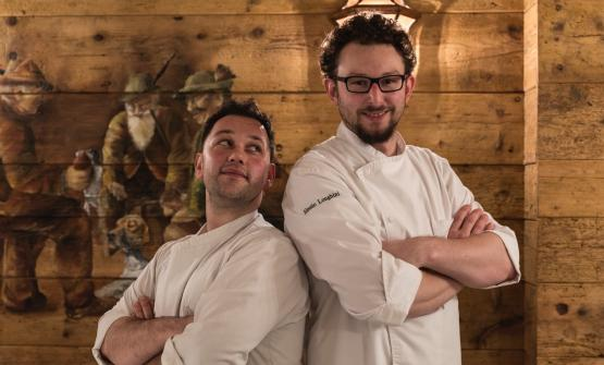 Longhini, a destra, colsous chef Jacopo Crosta