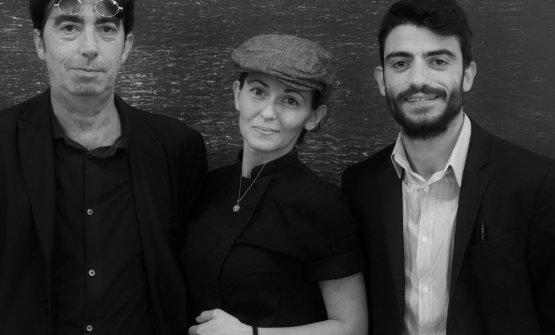 Da sinistra Alessandro Libertini (maître e patron), la chef Alessandra Civilla e il sommelier Andrea Libertini