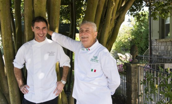 Alfonso con il figlio Ernesto