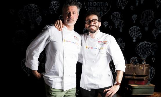 Gianni Tarabini, a sinistra, e Franco Aliberti, fo
