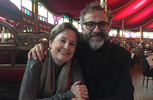 Alice Waters con Massimo Bottura