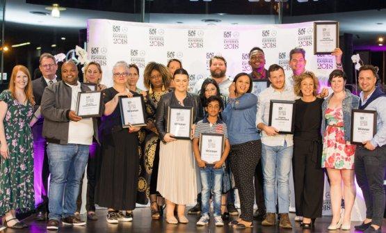 Foto di gruppo dei vincitori degli Eat Out Awards 2018 in Sudafrica