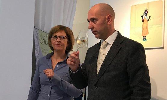 Foulques Aulagnon, Export Marketing Manager del Civa (Conseil Interprofessionnel Vins d'Alsace), insieme ad Alessandra Zaco che ne cura la comunicazione