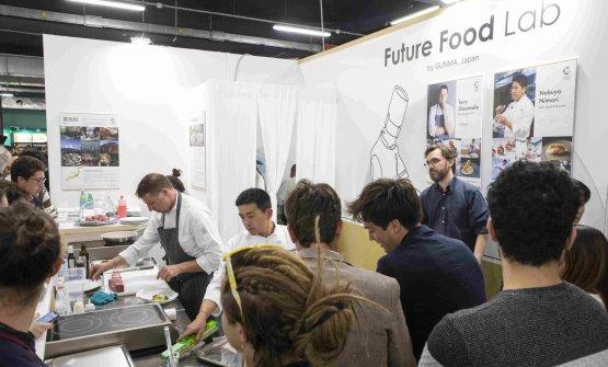 Terry Giacomello durante il suo cooking show