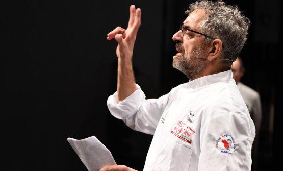 Mauro Uliassi sul palco...