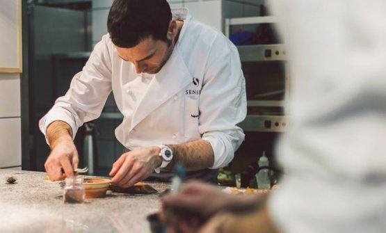 Andrea Camastra, classe 1980, chef pugliese di Monopoli,una stella Michelin al ristorante Senses di Varsavia