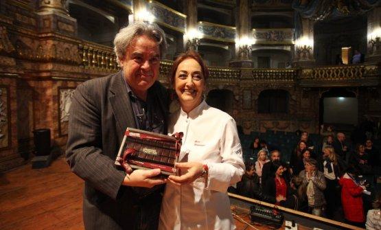 Sul palco con Mauro Felicori