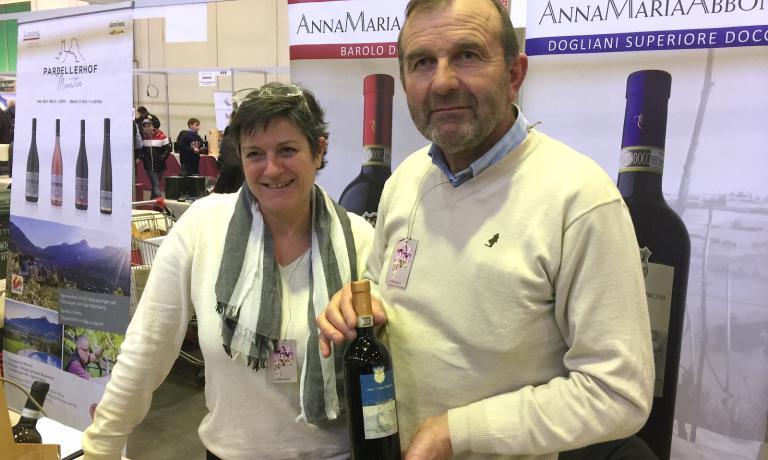 Anna Maria Abbona e il marito Franco