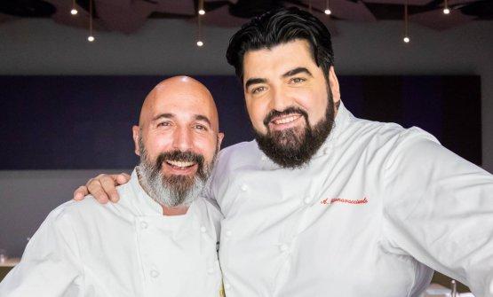 Con il coordinatore delle cucine di Identità Golose Milano Andrea Ribaldone