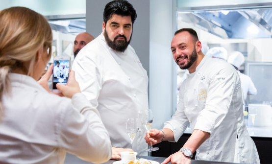 In posa con il resident chef di via Romagnosi Alessandro Rinaldi