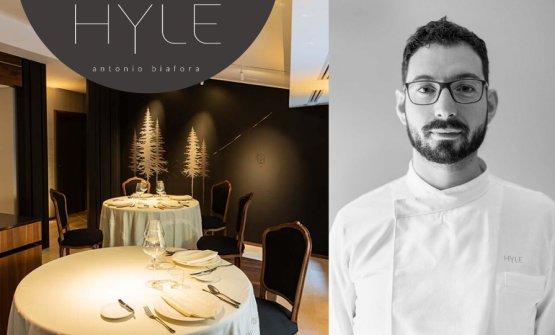 Lo chef e l'insegna del suo nuovo ristorante