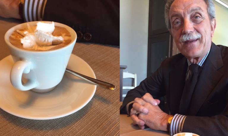 Antonio Palmieri e uno straordinario espresso con la panna delle sue bufale