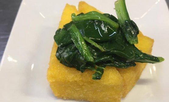 'Scagliozzo' con germogli di zucchine