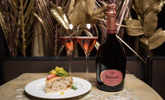 L'Aria di pane di Renato Bosco eChampagne Ruinart Rosé
