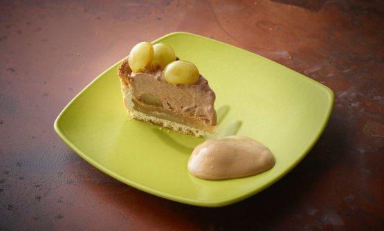 Crostata di uva Italia, primo dessert proposto, come tutti gli altri, da Corrado Assenza. Tutte le foto sono di Carlo Baroni per Molino Quaglia