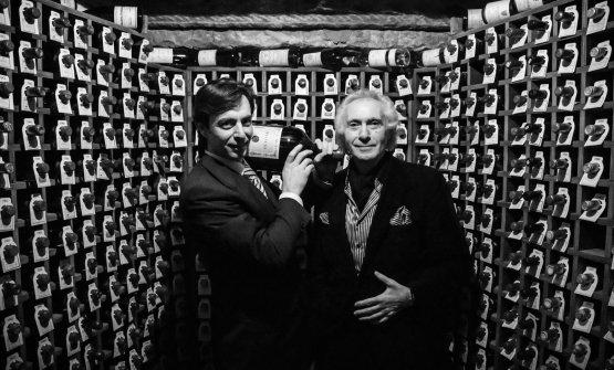 Giorgio Pinchiorri con il curatore della cantina, Alessandro Tomberli