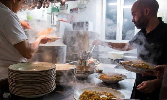 Augusto Beba Andreani nella cucina di Bottega14