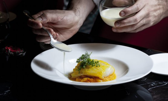 Baccalà, zucca e salsa al burro
