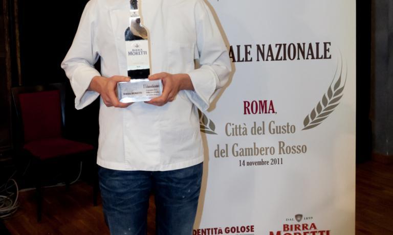 Giuliano Baldessari, vincitore della prima edizione del Premio Birra Moretti Grand Cru