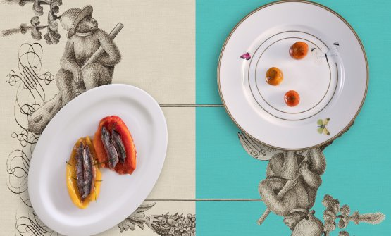 Peppers and anchovies: classic version, and Baronetto's version