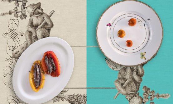 Peperoni e acciughe: versione classica e versione Baronetto