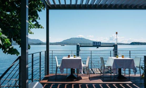 La bella veranda sul lago del ristoranteBattipalo