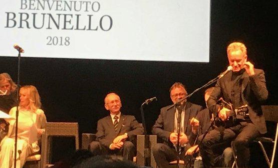 Sting al Benvenuto Brunello: ha suonato e cantato Message in a bottle