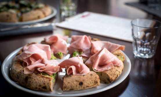 Mortadella, broccoli e Asiago (foto Francesca Sara Cauli)