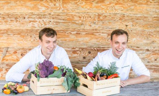 I gemelli Ivan e Sergey Berezutskiy, ristorante Twins a Mosca(fotoIgor Rodin)