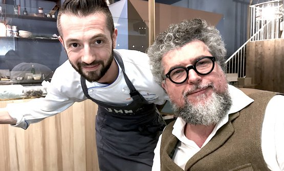 Beniamino Bilali with gastronomist and food criti