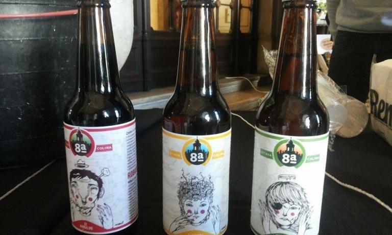 Alcune delle birre prodotte dalla 8a Colina