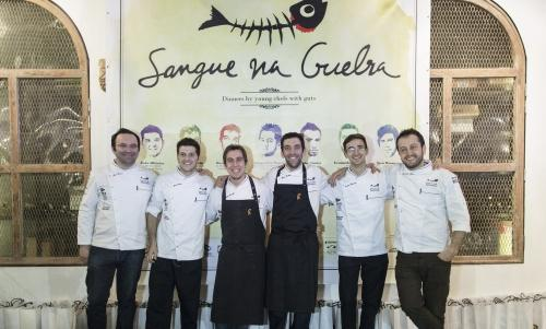 The ritual photograph of the sous chefs who partic