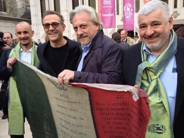 Enrico Crippa, Massimo Bottura, Davide Scabin e Umberto Bombana al 50 Best 2013