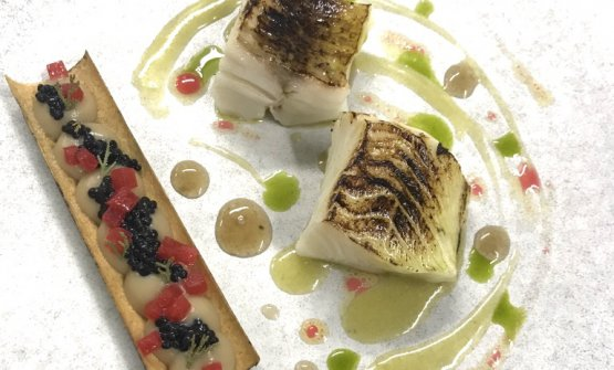 Black cod, chargrilled aubergines and fermented plums