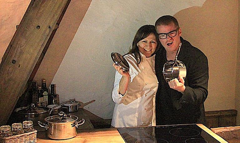 Maura Gosio, chef del Royal, con Heston Blumenthal, fantasmagorico chef inglese che adora Courmayeur