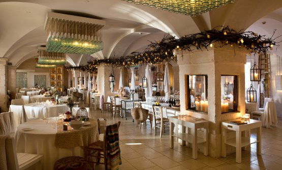 La sala del Due Caminia Borgo Egnazia