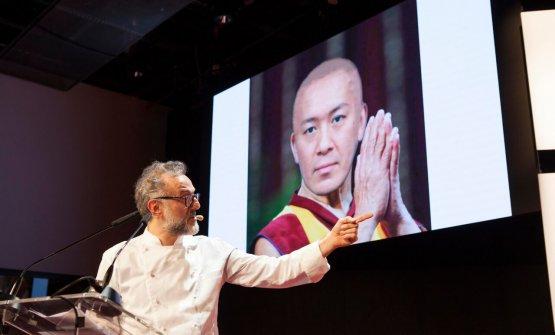 Bottura e il Dalai Taka