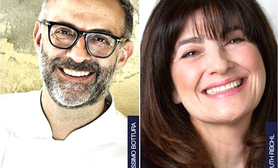 Massimo Bottura and Ruth Reichl