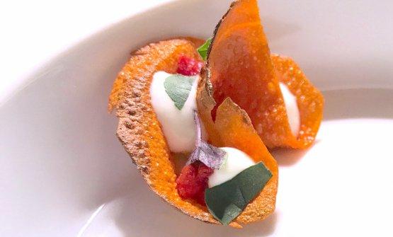 Omaggio a Ciro Oliva: l'appetizer, nel nuovo menu dell'Osteria Francescana, che Massimo Bottura ha dedicato a Ciro Oliva, giovane pizzaiolo napoletano