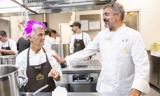 Nella cucina di Identità Golose Milano con Mauro Uliassi