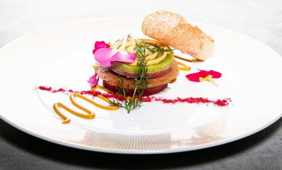 Lampone, basilico e salsa mou