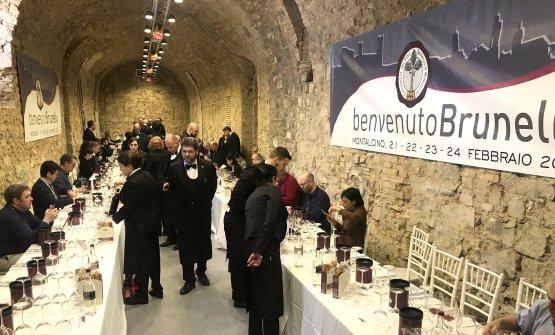 Le degustazioni grazie all'ottimo lavoro dell'Associazione Sommelier della Toscana