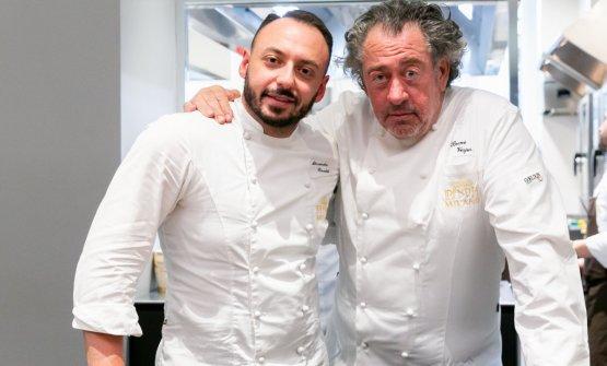 Con il resdident chef di Identità Golose Milano, Alessandro Rinaldi