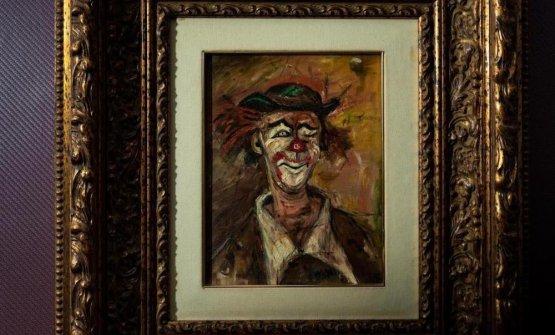 """Il quadro del pagliaccio, un po' il simbolo del locale.«Ho chiamato il mio localeIl Pagliaccio, perché da sempre sono affascinato dalla figura del clown. E mi sembra rappresenti bene il ruolo odierno dello chef, che deve essere sempre allegro e """"andare in scena"""" qualunque cosa accada. Ma anche perché era il titolo di un quadro (nella foto) che mio padre aveva regalato a mia madre»"""