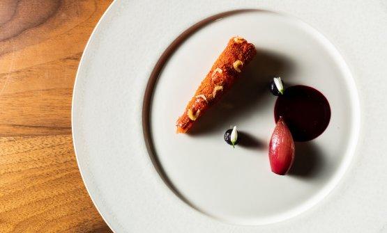 Gambero Rosso - Rosa, mirtilli e scalogno: il piat